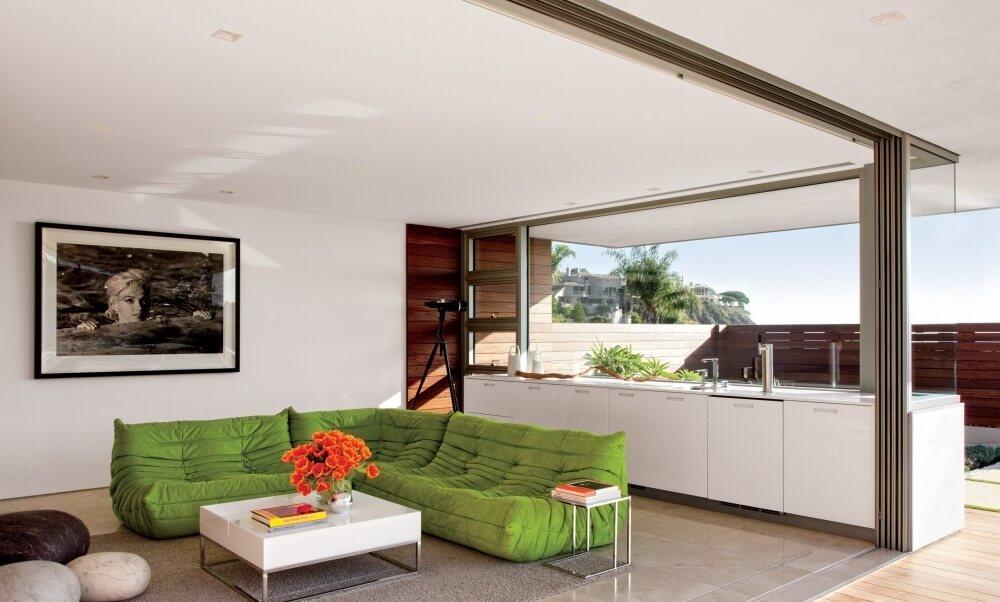 9 modern high contrast living room designs https for Modern sleek living room