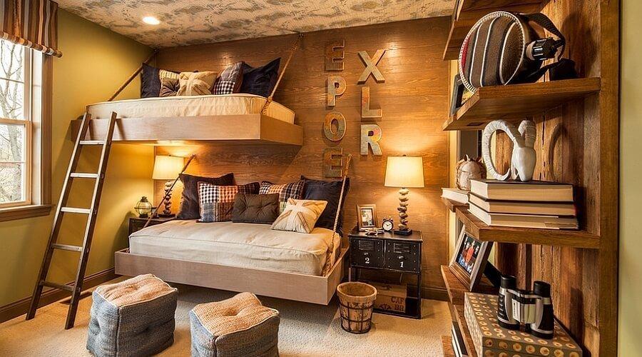 Space Saving Rustic Kid's Bedroom