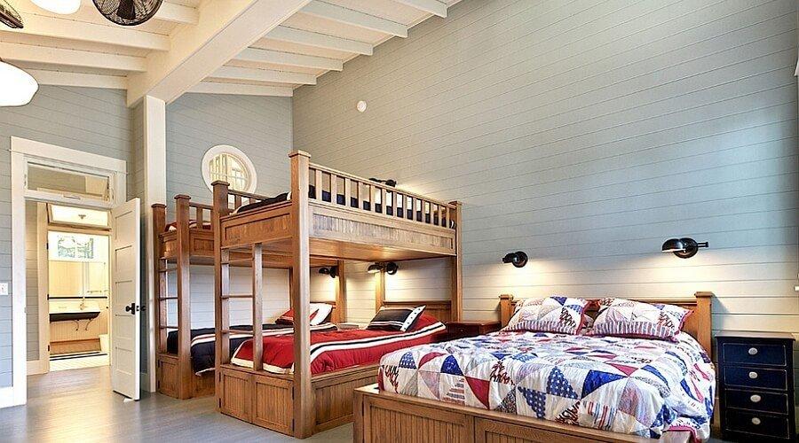 Spacious Rustic Kid's Bedroom