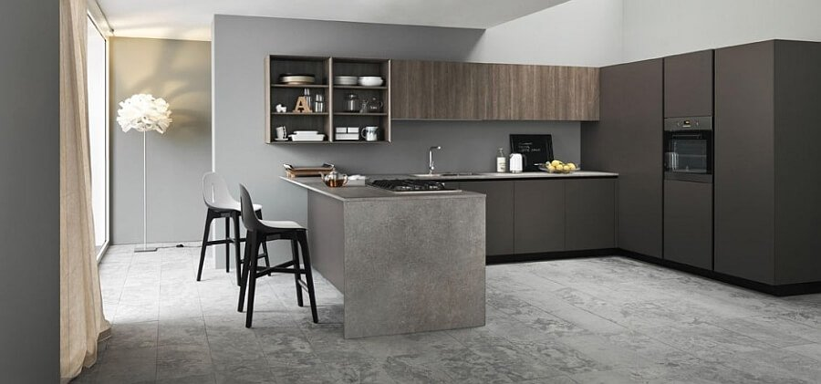 Stylish KITCHEN WITH TEXTURAL CONTRAST