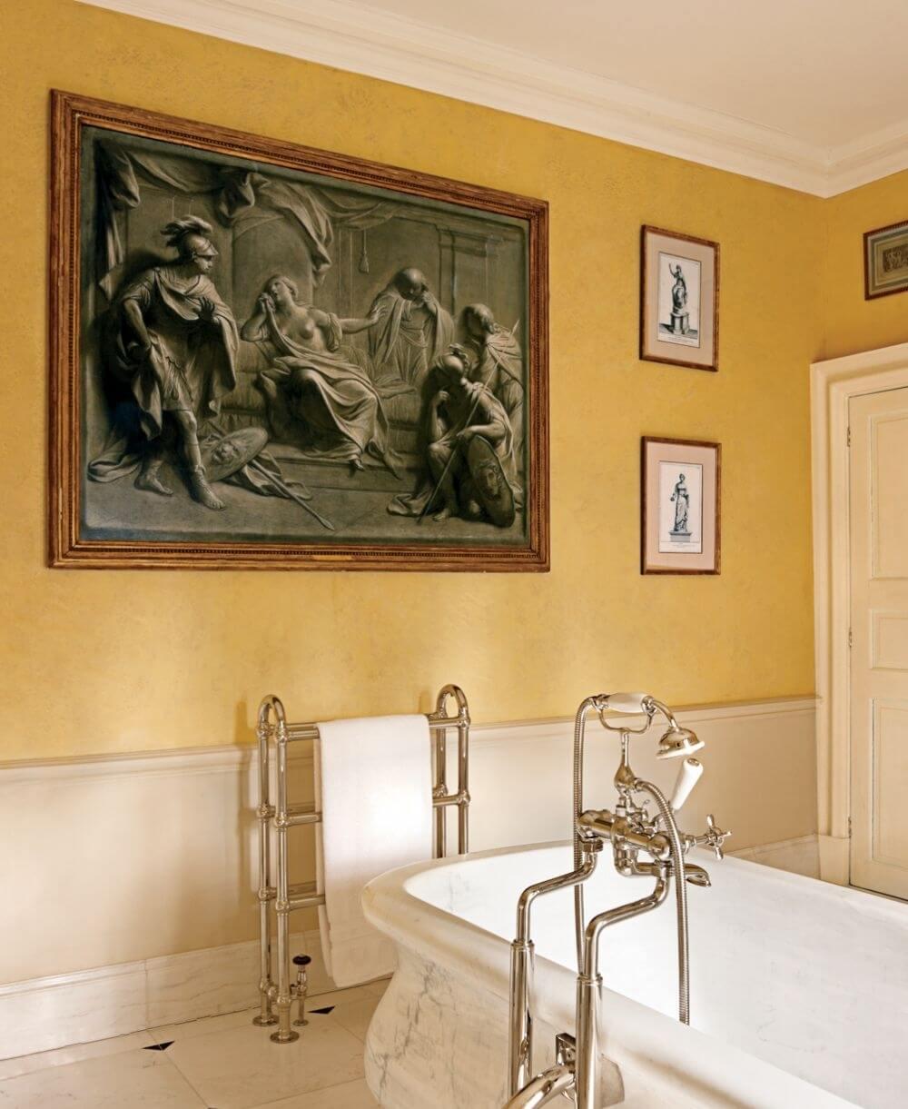 Traditional Yellow Bathroom
