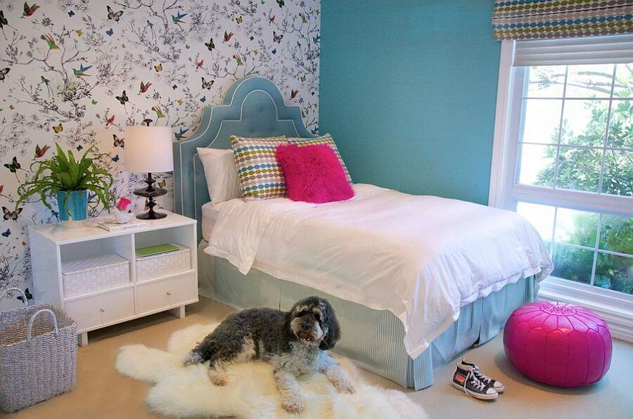 13 accent wall ideas in stylish and cool kid 39 s bedrooms for La plus belle chambre