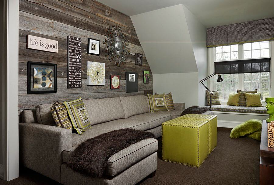 Wood Paneled Accent Wall