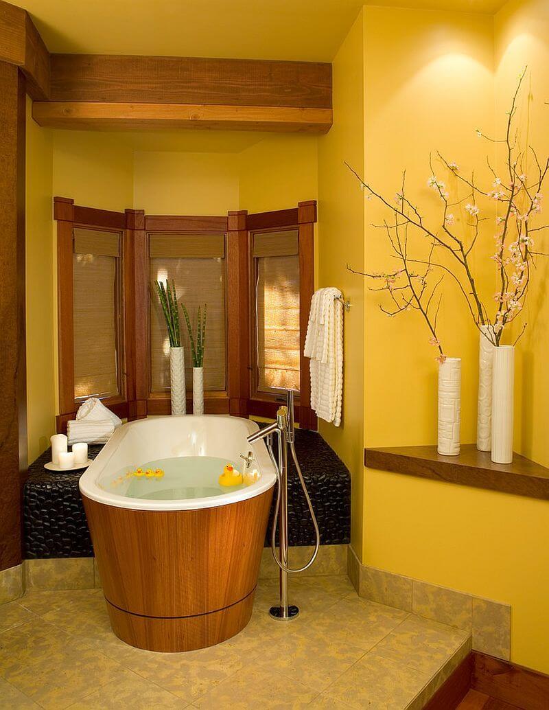 refreshing Yellow Bathroom