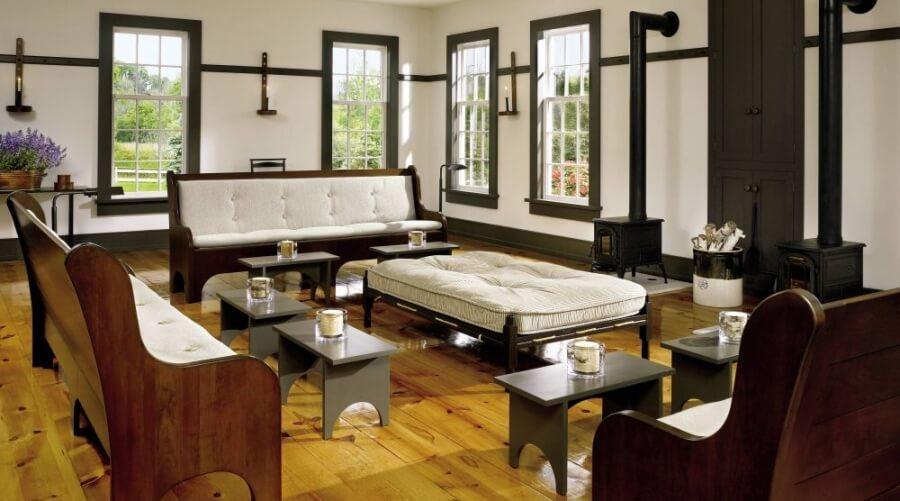 Ash White Ottoman Coffee Table