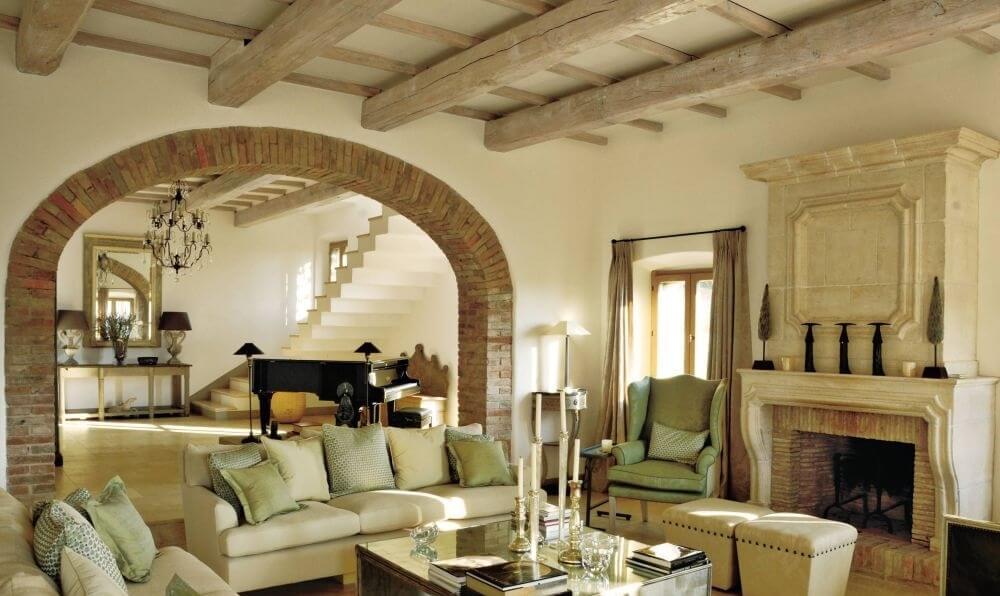 Beige Farmhouse Inspired Living Room