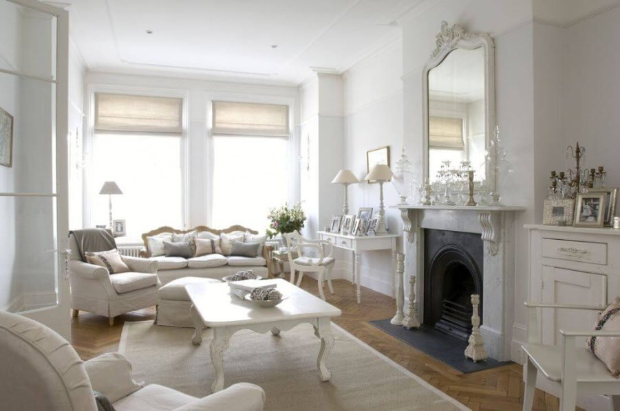 Bright Shabby Chic Living Room