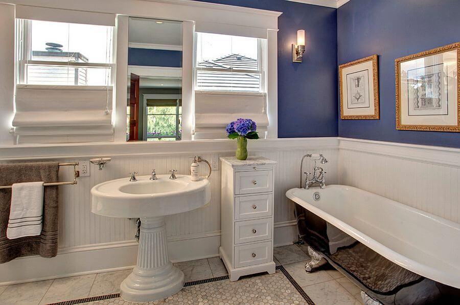 Charming Purple Bathroom