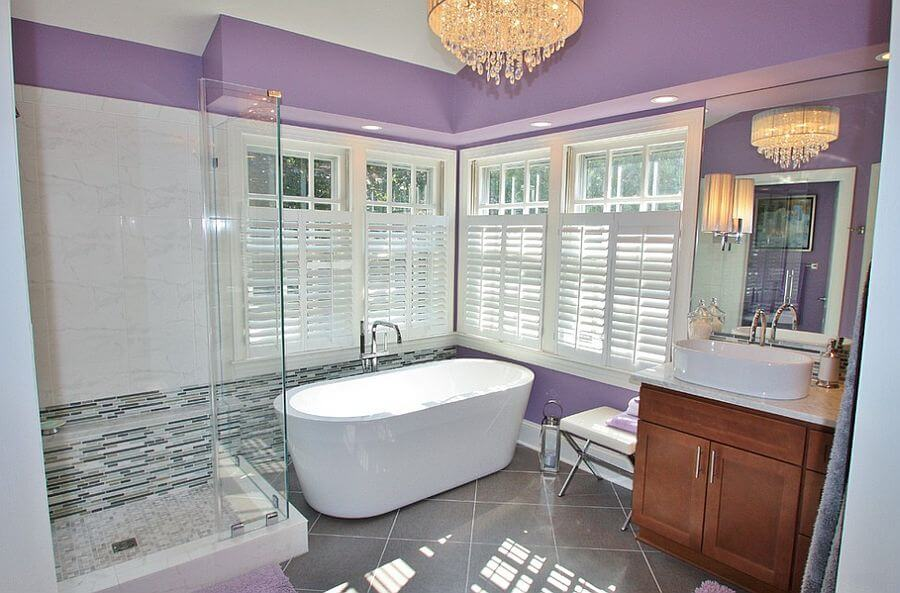 Chic Bright Purple Bathroom
