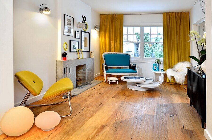 10 yellow and blue interior design ideas for your home for Living room ideas yellow and blue
