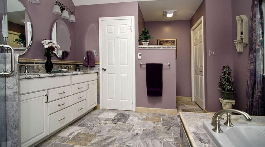 Classy Purple Bathroom