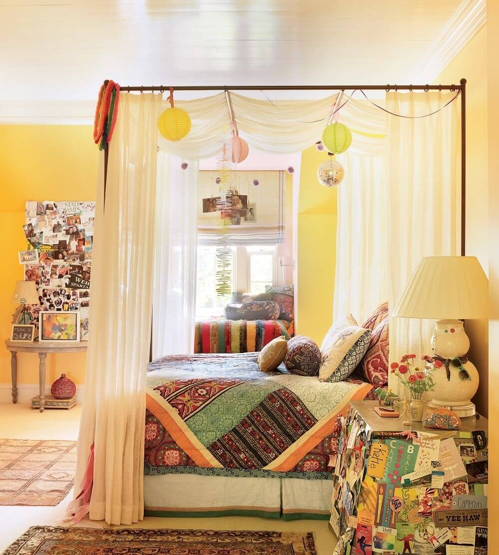 Small Bedroom Furniture Layout Bedroom Posters Vintage Bedroom Curtain Ideas Bedroom Interior Design For Kids: 8 Bohemian Chic Teen Girl's Bedroom Ideas