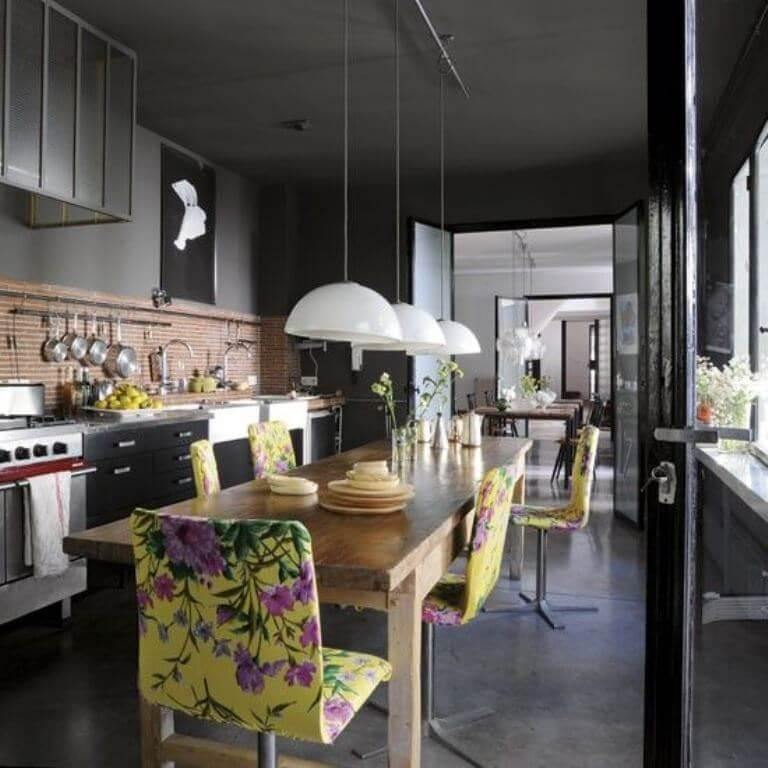 Floral Kitchen Chair