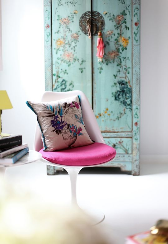 Floral Patterned Dresser