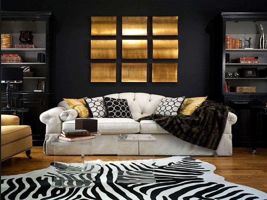 11 Dramatic Gold and Black Interior Design Ideas - https ...