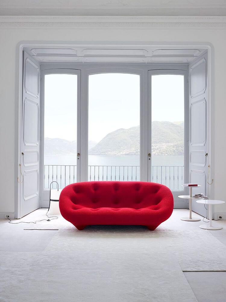 Gorgeous Red Ploum Sofa