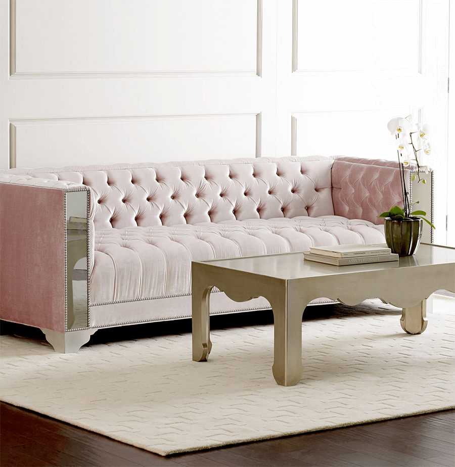 Lena-Mirrored-Sofa-with-Tufting