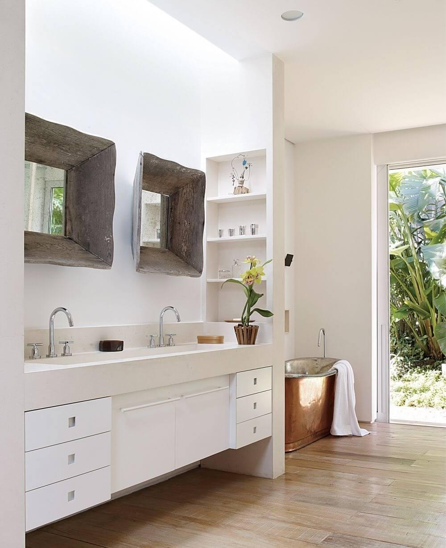Luminous Farmhouse Bathroom