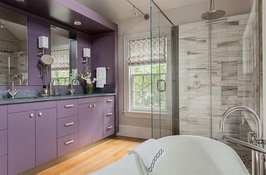 Luxurious Purple Bathroom