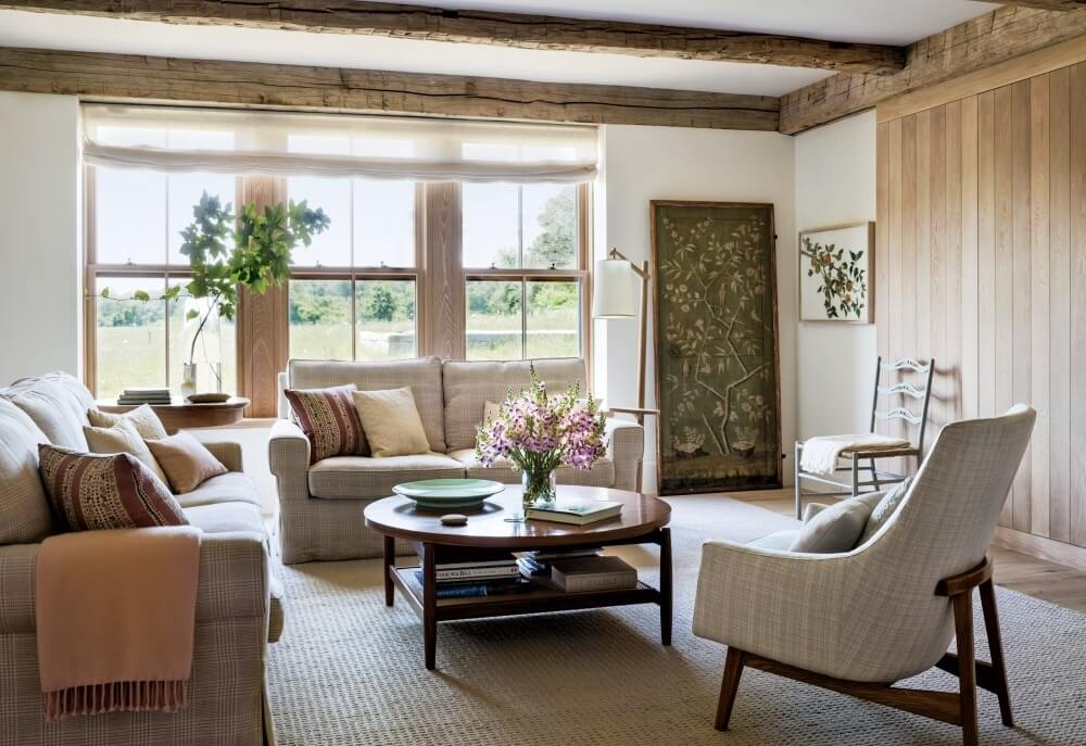 Natural Shabby Chic Living Room