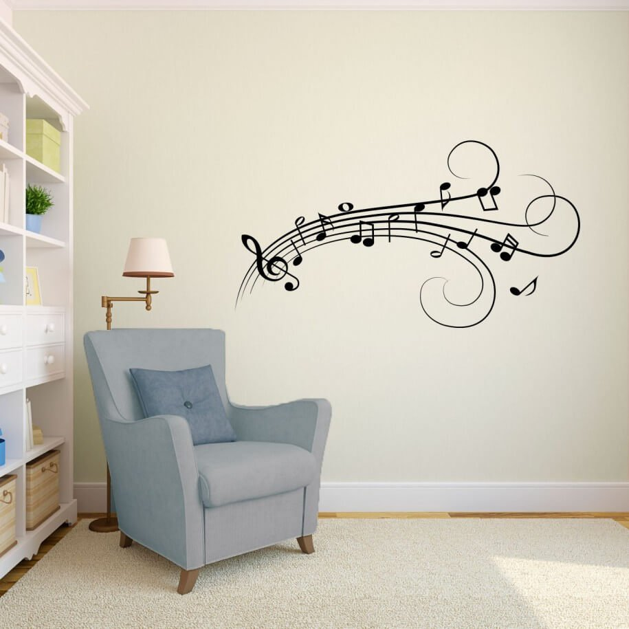 10 modern wall decal ideas for the living room https musique notes fleurs wall art decals wall stickers