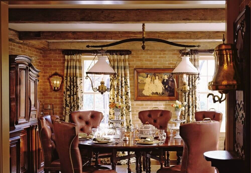Opulent Farmhouse Dining Room