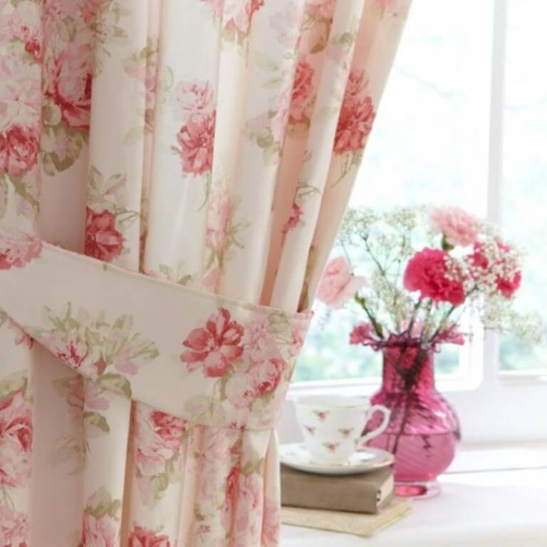 Pastel Floral Curtain