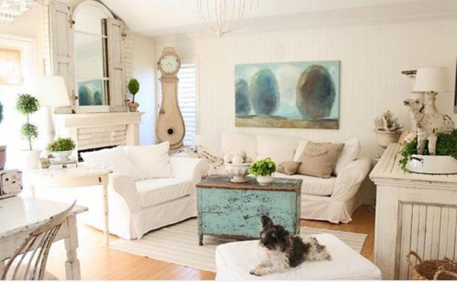 Perky Shabby Chic Living Room