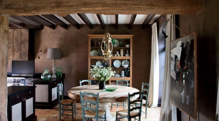 Unique Farmhouse Dining Room