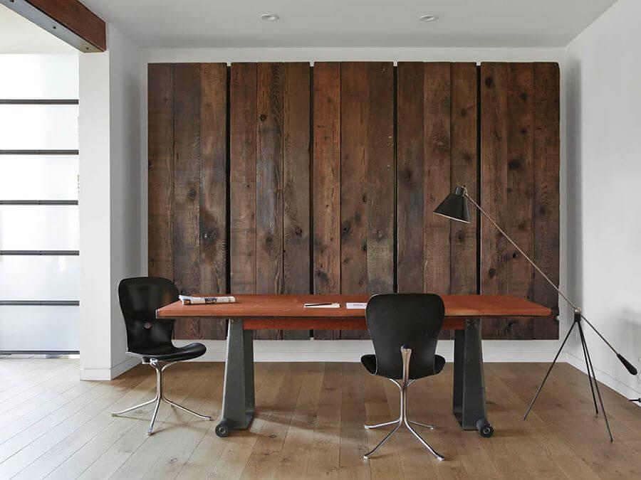 Wood Paneled Accent Wa;;