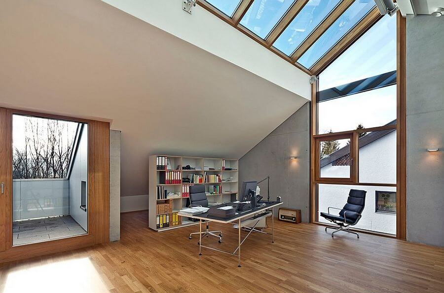 Airy Home Office with SKylights
