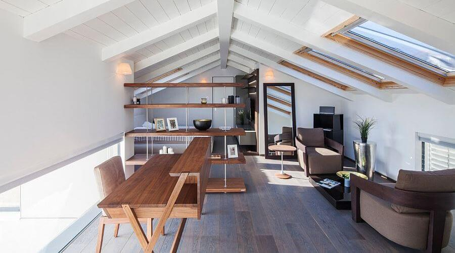Minimal-home-office-with skylight