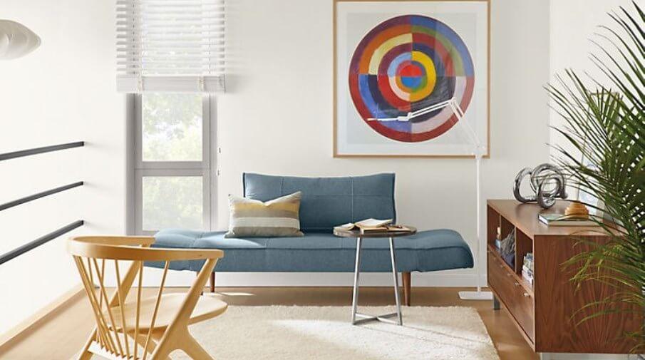 Blue Sleeper Sofa