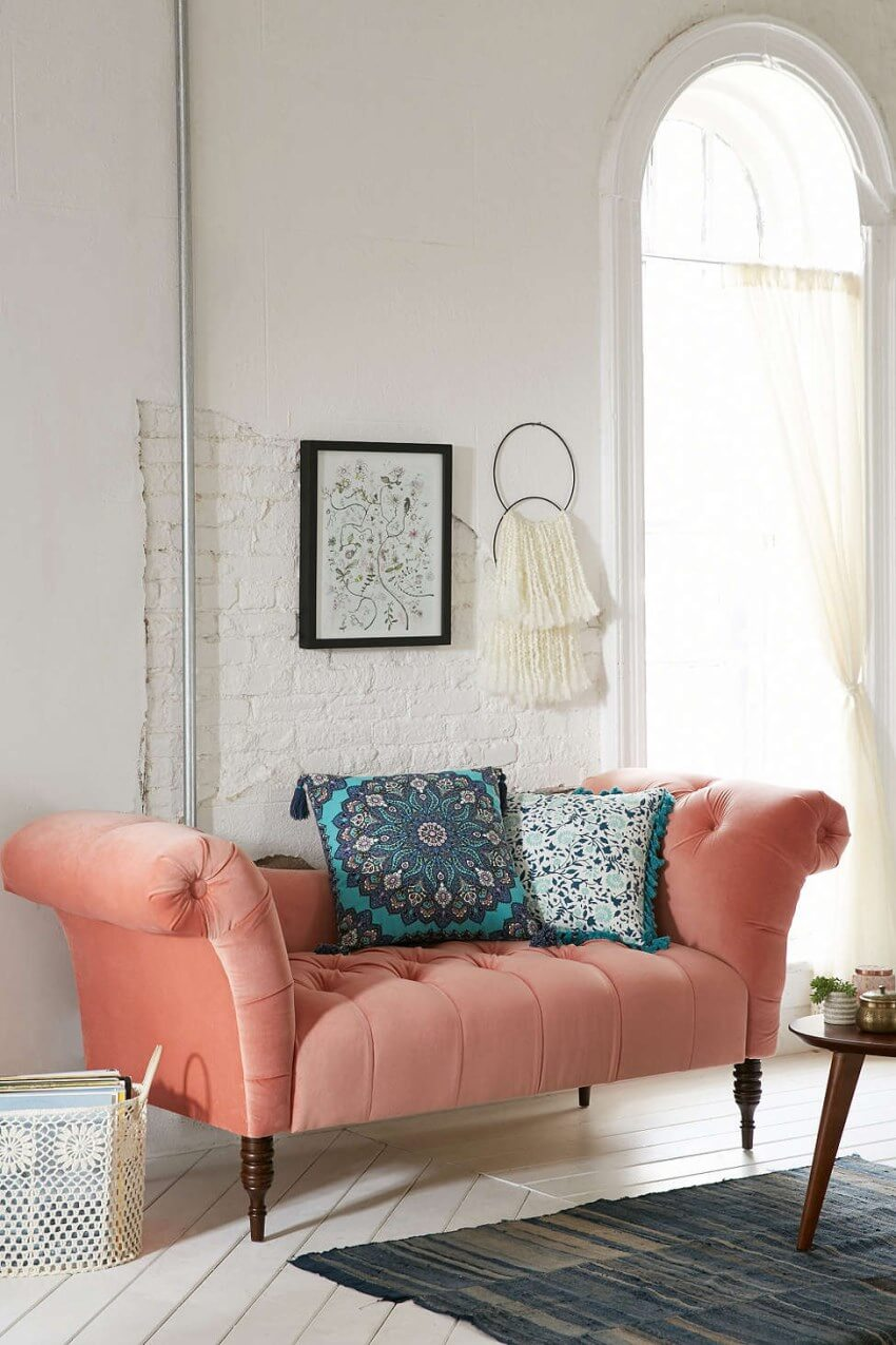 Coral Tufted Sofa