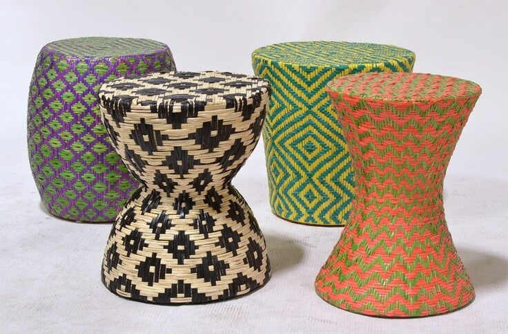 Wooven Dining Stools