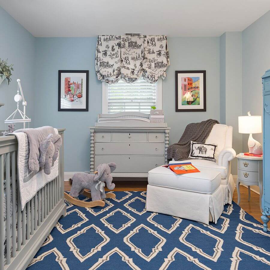 Bright Blue Nursery