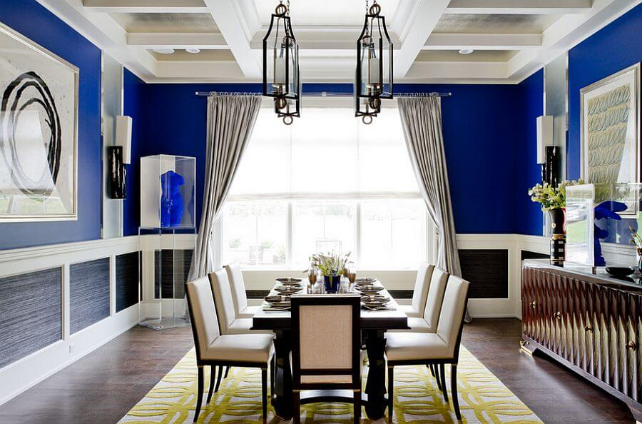 Cheerful Blue Dining Room
