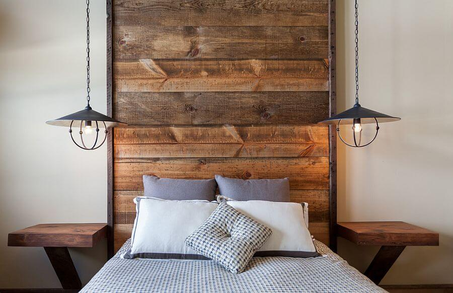 Floor to Ceiling Wood Headboard