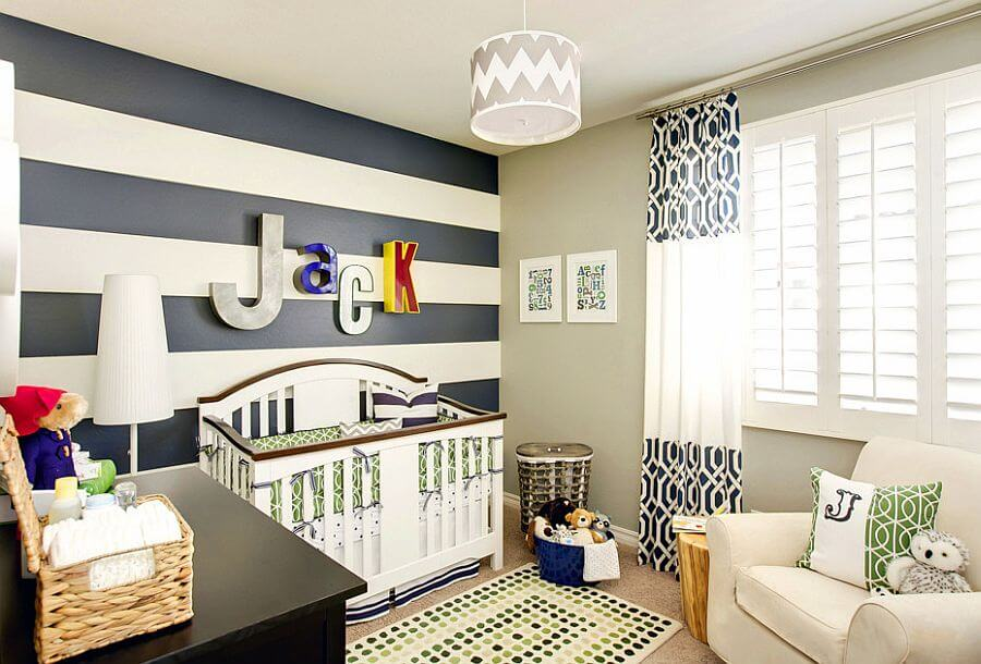 Striped Blue Nursery