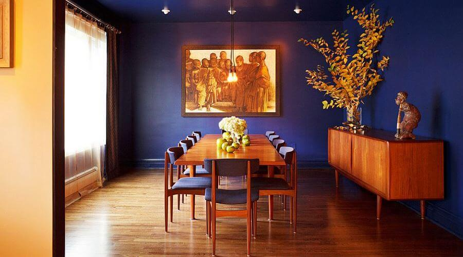 12 Refreshing and Modern Blue Dining Room Design Ideas
