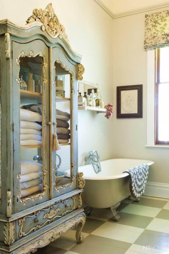 8 amazing shabby chic bathroom design ideas for a feminine. Black Bedroom Furniture Sets. Home Design Ideas
