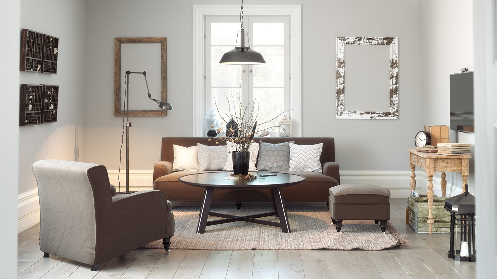 Scandinavian themed living room