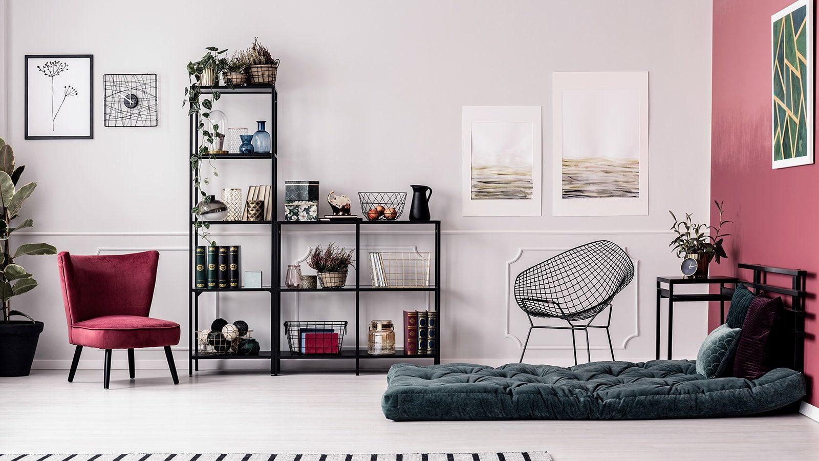 Well organized living room