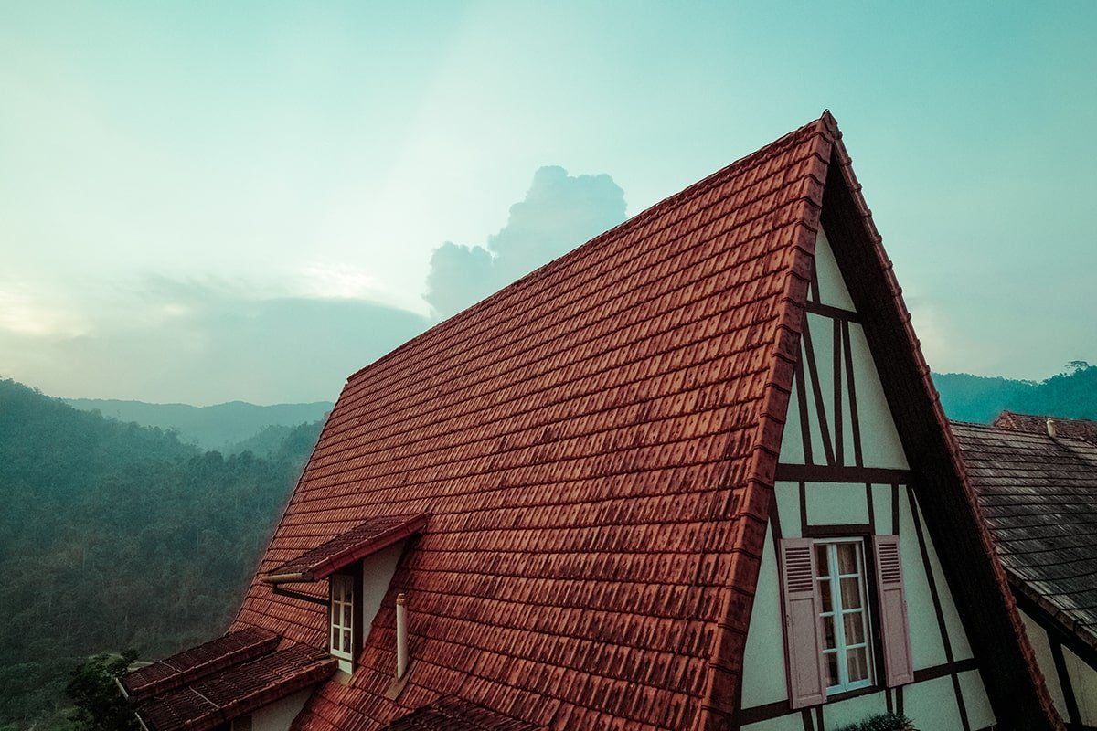 Steep house rooof