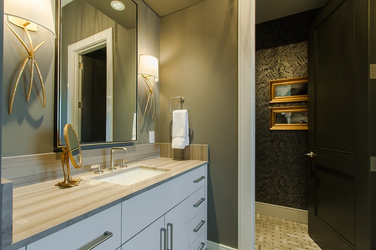 Beautiful luxurious bathroom cupboards