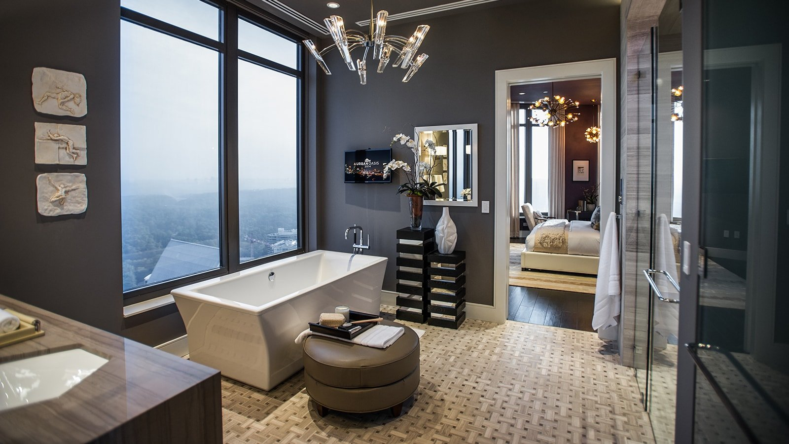Modern luxurious bathroom