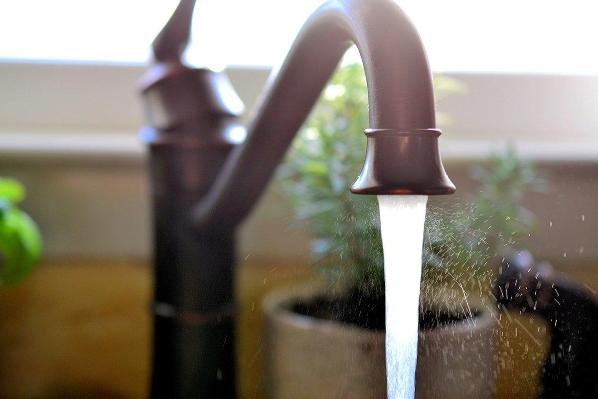 Cast iron kitchen sink faucet