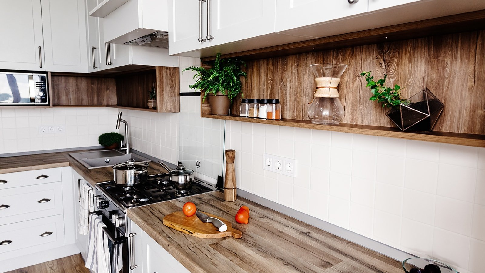 Stylish kitchen with no pests