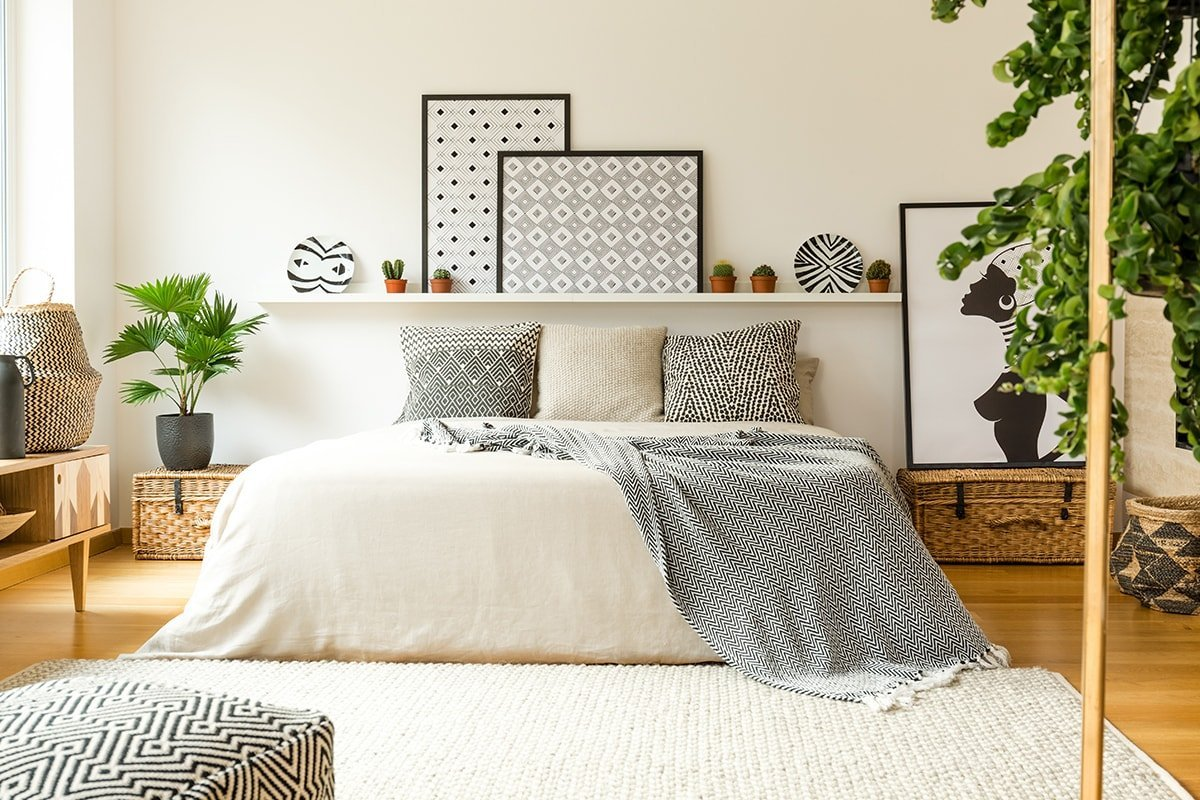 Warm and bright bedroom