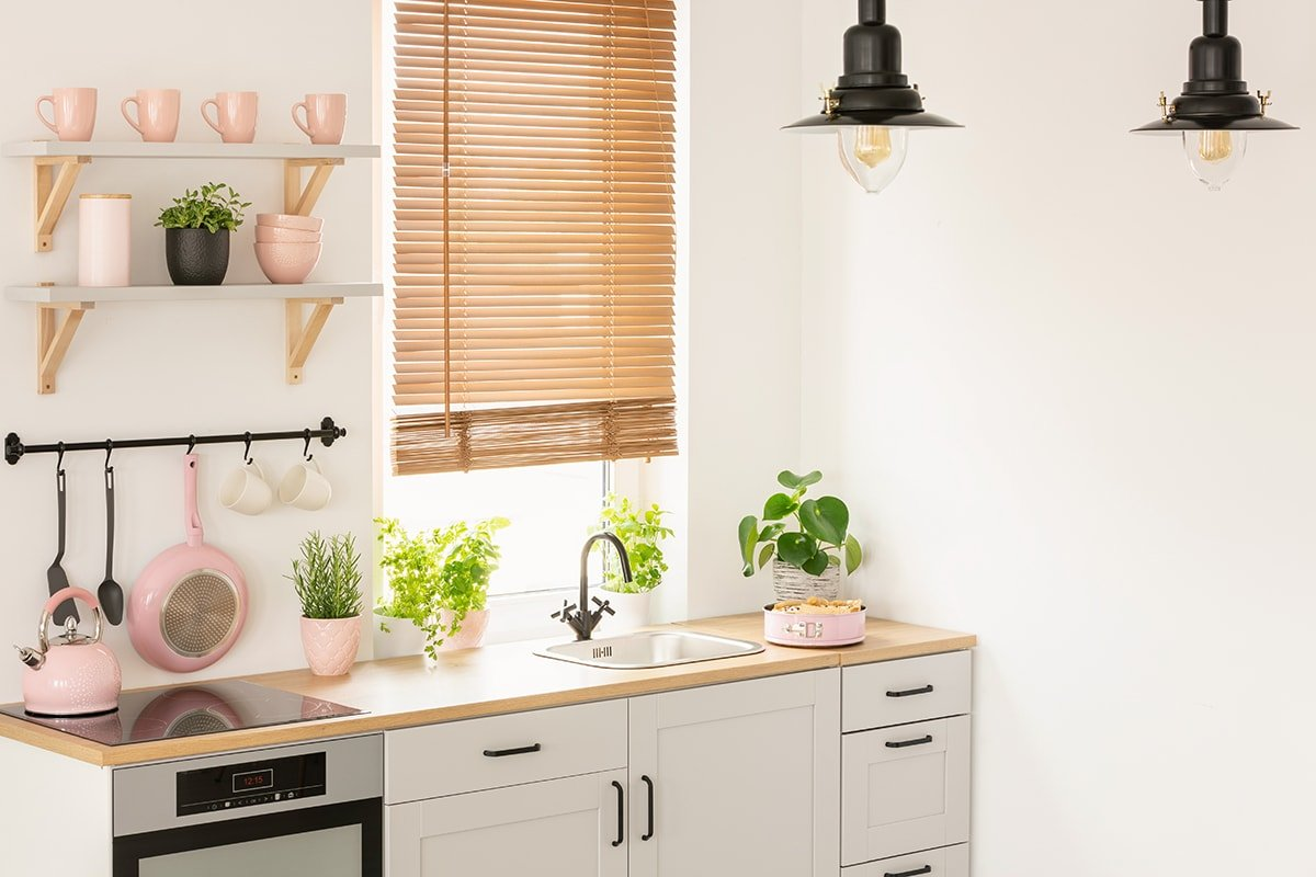 Warm and bright kitchen